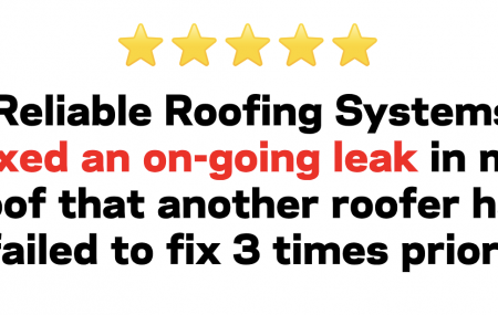 Best Leaking roof repair company - 5 star review from Colorado Springs residential roofing client.